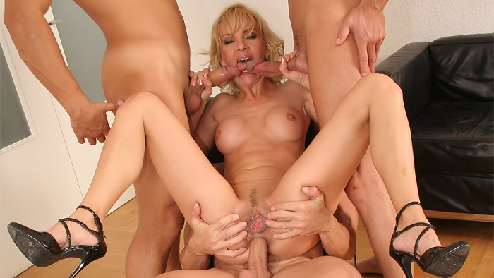 Milf thing silvya and the 3 dicks none too small all just
